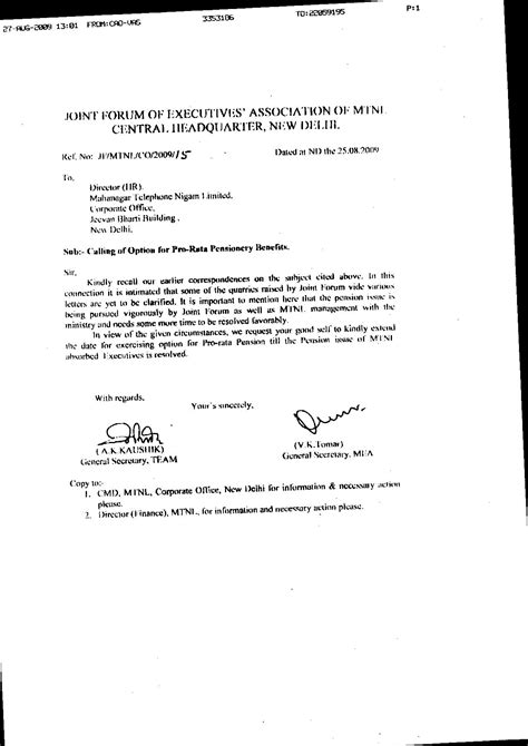 Pension Transfer Letter Format New Page 1 Team Org In