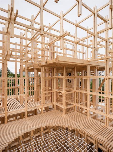 pavillon lausanne rahmen f 252 r r 228 ume holzpavillon in lausanne detail