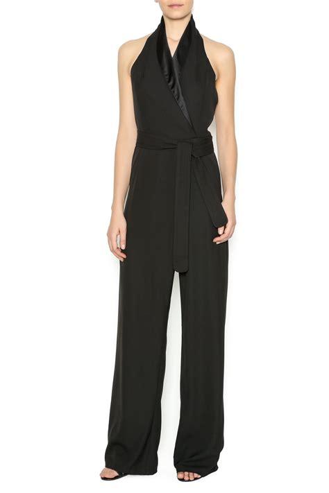 Tuxedo Romper Blackred marvel black tuxedo jumpsuit from manhattan by dor l dor shoptiques