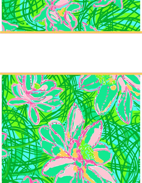 lilly pulitzer binder templates 9 best images of lilly pulitzer blank binder printables