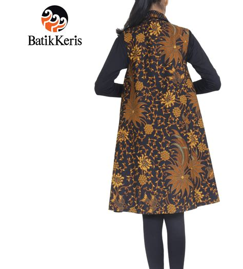 Batik Outer outer batik motif bunga bakul kombinasi truntum batik