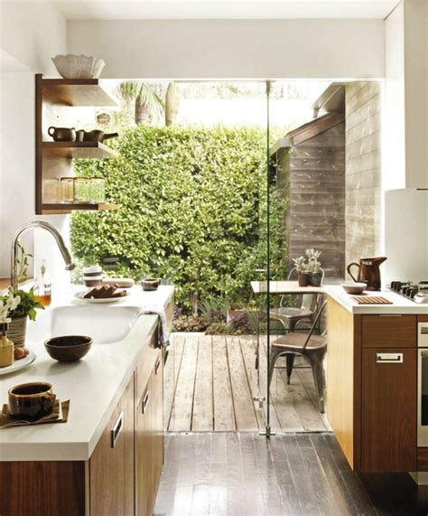 glass wall kitchen outdoor indoor kitchens with glass walls interiorholic com