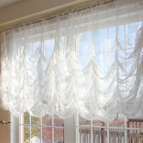 lace curtains garden of joy austrian balloon curtain