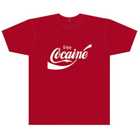 Tshirt Enjoy Cocaine retro t shirts enjoy cocaine t shirt white print