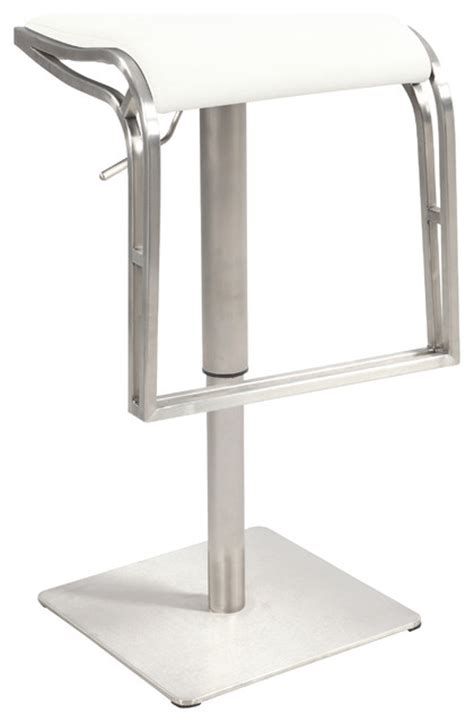 white backless swivel bar stool white backless pneumatic gas lift adjustable height swivel