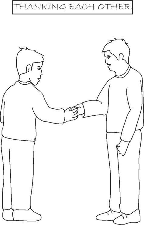 coloring page of shaking hands free handshake coloring pages