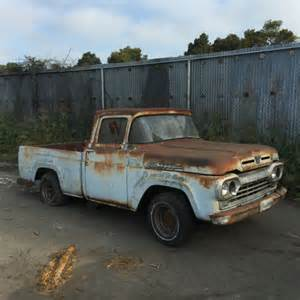 1960 ford f100 truck pickup v 8 white 1959 1958 1957 1960
