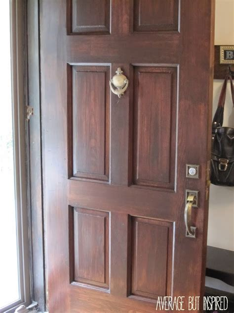 How To Stain Front Door How To Refinish An Exterior Door The Easy Way