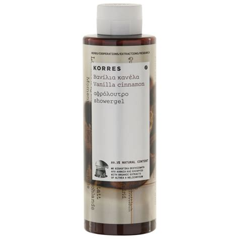 Korres Shower Gel by Korres Vanilla Cinnamon Shower Gel 250ml Free Uk Delivery