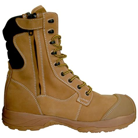 safety toe work boots s dawgs 174 8 quot ultralite comfort pro leather side zip