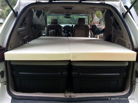 New Minivan Camper Bed And Trail Of Blue Ice Pacificsailors