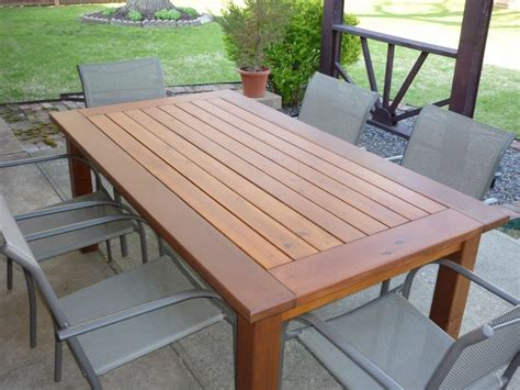 woodwork cedar outdoor dining table plans  plans