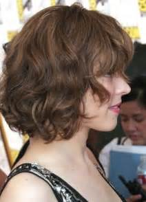 Short curly wavy bob hairstyle pinterest