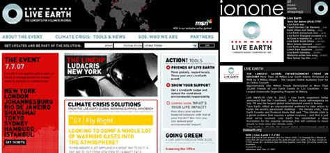 Live Earth Concerts Save Our Selves Says by Ionone World