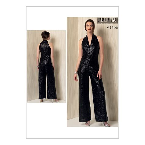 Sleeveless Top Size Sml 13637 v1506 misses sleeveless wide leg jumpsuit size xsm sml med fabricville