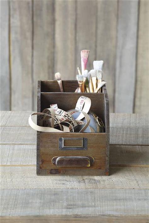 antique wooden drawer desktop organizer  art sewing