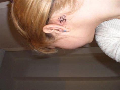 aum tattoo behind ear tattoo zone aum tattoos
