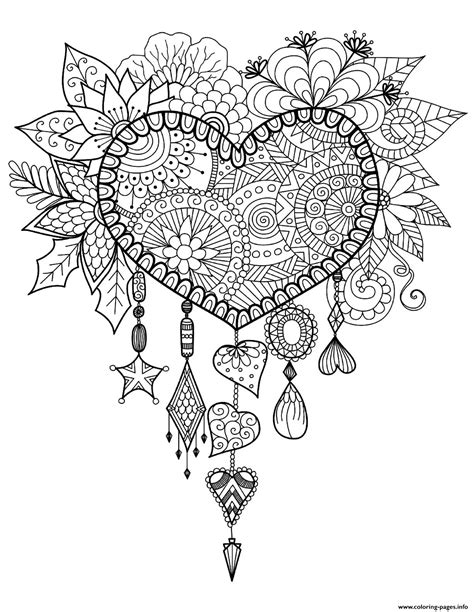 mandala coloring pages hearts dreams catcher mandala zen coloring pages