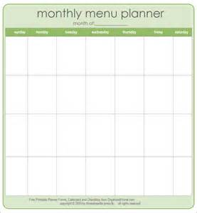 printable menu templates search results for printable monthly planner calendar