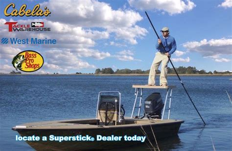 boat accessories magazine superstick 174 push pole shallow water anchor pin boating