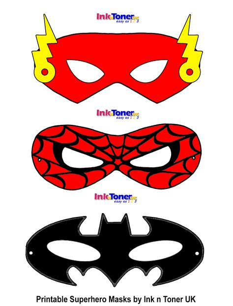 printable superhero masks my blog