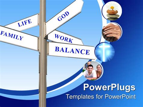 templates powerpoint work powerpoint template signpost with words life family god