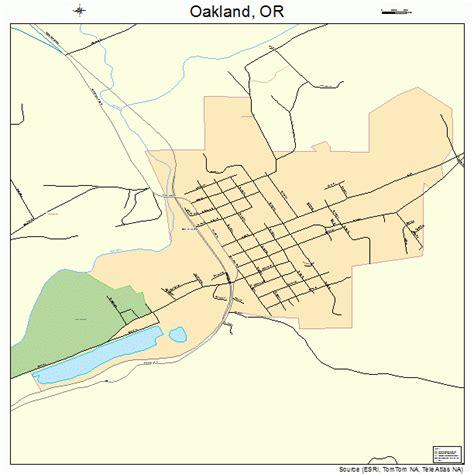 map of oakland oregon oakland oregon map 4154000