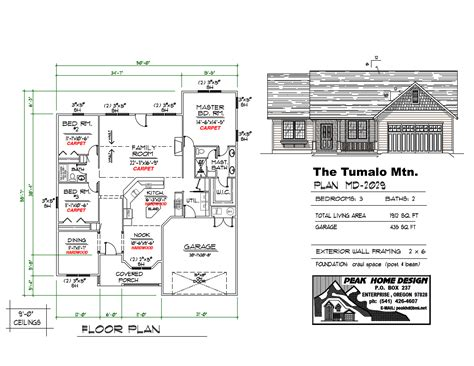 The Plan Collection Modern House Plans by Peak Home Design Collection Oregon The Tumalo Mtn Plan Md