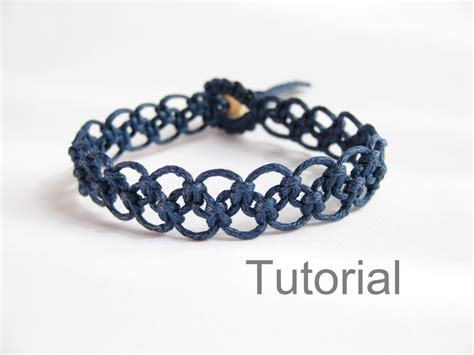 Macrame Bracelet With Pictures - tutorial macrame bracelet pattern pdf easy navy blue knotted