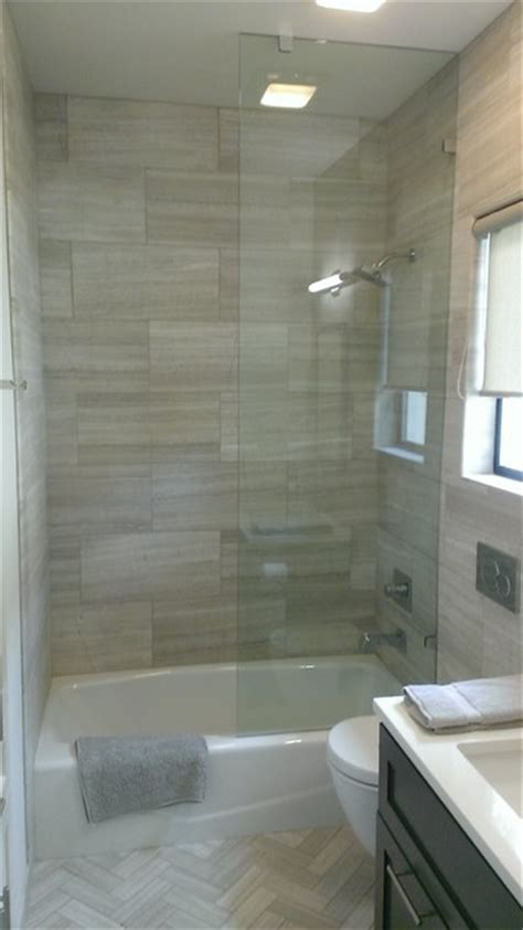 bathroom    valentino gray marble walls floor transitional bathroom austin