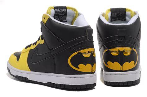 batman sneakers nike original nike dunk sb high top batman black yellow
