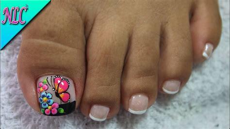 fotos de uñas acrilicas gratis decoraci 211 n de u 209 as para pies mariposa y flores flowers