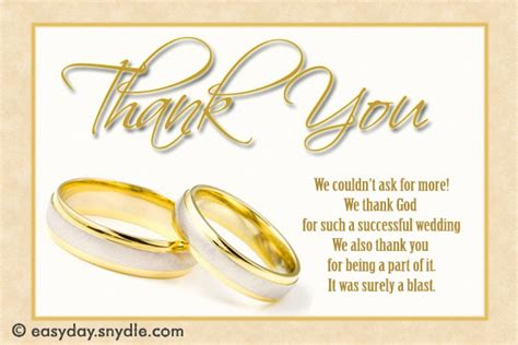 Wedding Thank You Wording by Wedding Thank You Card Wording Sles Easyday