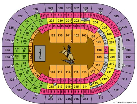 Forum Credit Union Event Center Amalie Arena Formerly Ta Bay Times Forum Pbr Professional Bull Riders Seating Chart