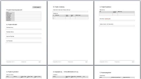 Word Vorlage Versuchsprotokoll Projektmanagement24 Projekt Abschlussbericht In Word Mit Vorlage Zum