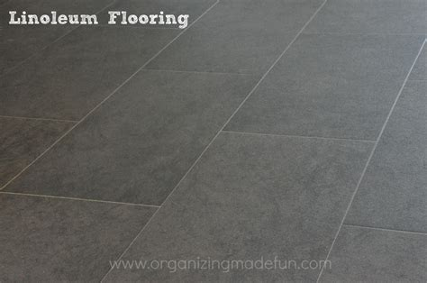 Lino Flooring by Our New Floor In The Kitchen Organizing Made Our