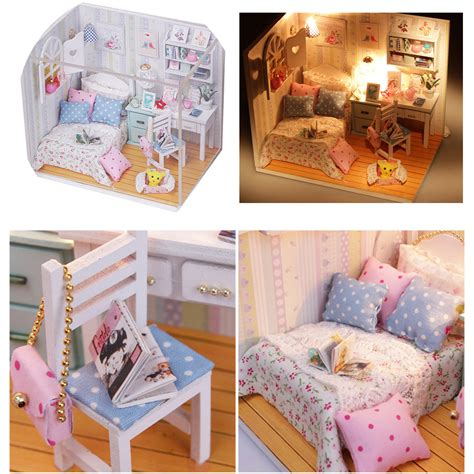 doll house room diy wood dollhouse miniature with led furniture cover doll house room alex nld
