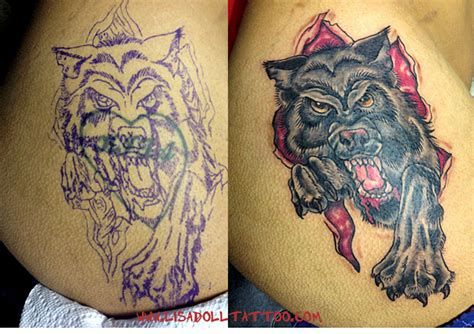 tattoo ideas for a name cover up name cover up wolf tattoo by mutantmuffinz on deviantart