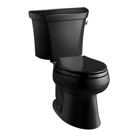 black toilet shop kohler wellworth 1 gpf 3 79 lpf black black