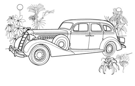 coloring pictures of vintage cars vintage car coloring page free printable coloring pages