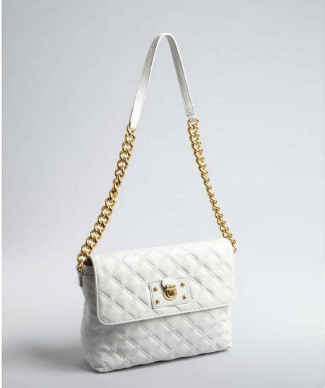 Marc Quilted Purse With Chain Handles by Marc Quilted Leather Single Chain Handle Shoulder