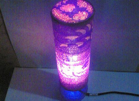 membuat lampu belajar  barang bekas artwork
