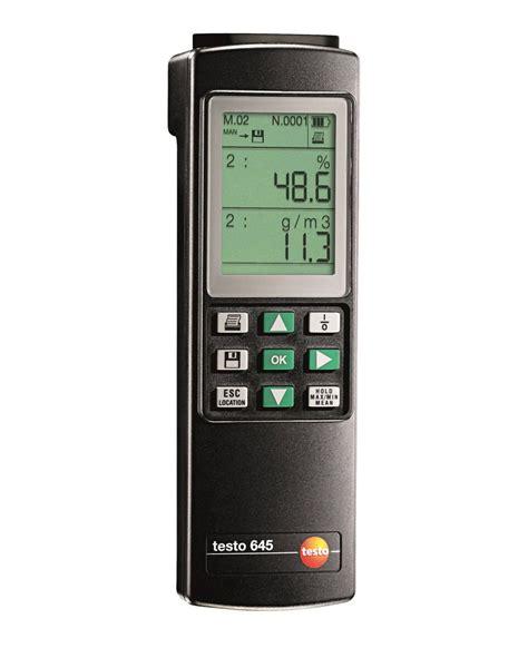 i a testo testo 645 humidity temperature measuring instrument 습도