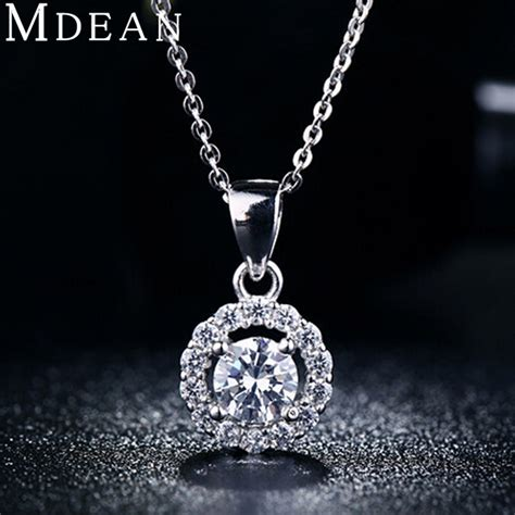 s925 necklace pendant white gold filled jewelry for
