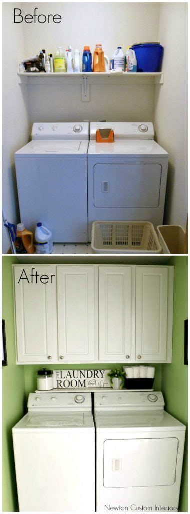 small laundry room before and laundry room reveal newton custom interiors