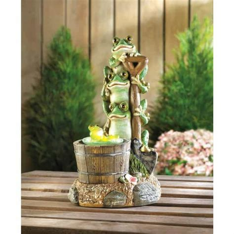 Frog Garden Decor Solar Rotating Frog Garden Decor Upc 849179031022