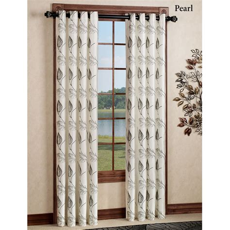 embroidered drapery panels astonish embroidered grommet curtain panels