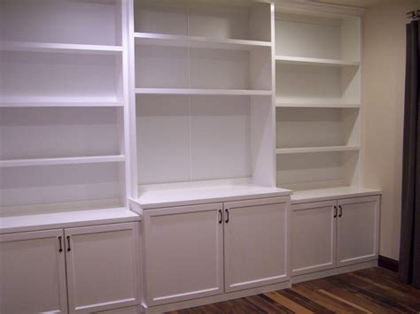 White Lacquer Bookcase Living Room Contemporary With White Built In Bookcases