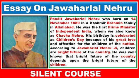 Essay On Jawaharlal Nehru by Essay On Jawaharlal Nehru In Jawaharlal Nehru Essay