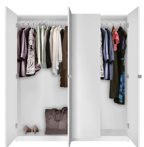Closet Packages Alta 4 Door Wardrobe Closet Basic Package Free Standing
